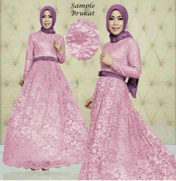 Mode baju dress brokat 6