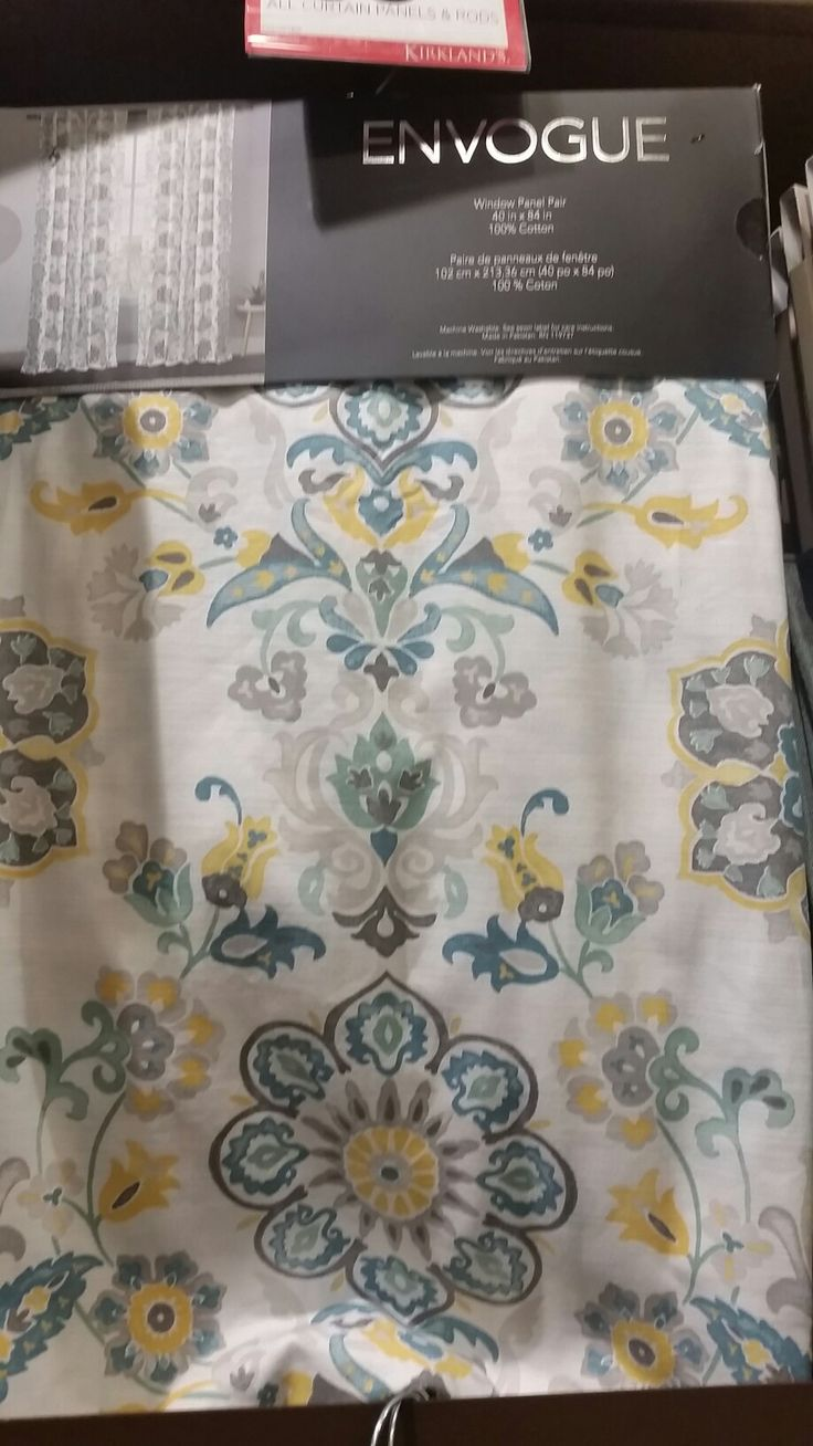 Clare Seafoam Envogue Curtains from Kirklands $35 for 2 panels