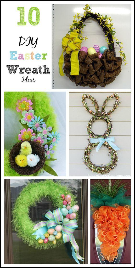 10 Fun Easter Wreaths