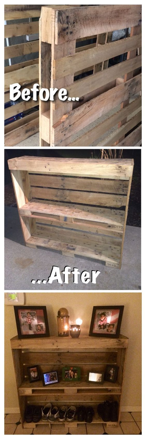 Pallet project. Would love this in my entranceway.: