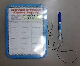All Things Upper Elementary: Morning Meeting Shares Sign Up Board