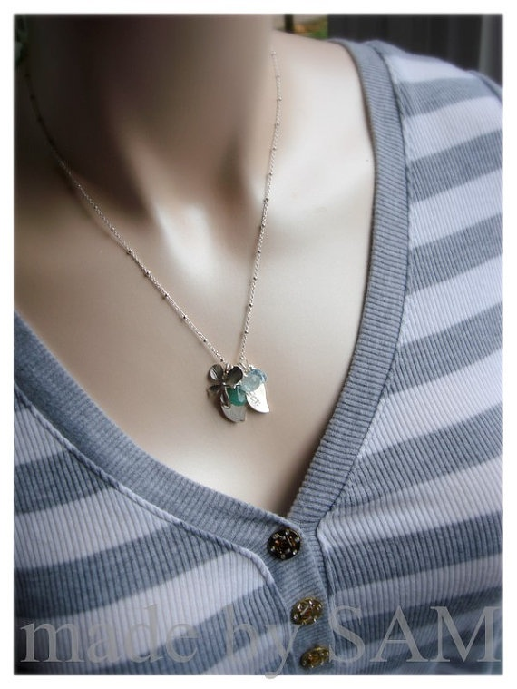 pretty: Outfit Inspiration, Sterling Silver, Leaf Necklaces