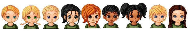 Marvel, Glimmer, Cato, Clove, Foxface, Thresh, Rue, Peeta & Katniss