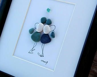 Pebble art friends, Friends, Sisters gift, home decor, for woman, for Prom, housewarming gift