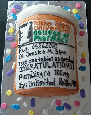 Pharmacist Graduation Cake. someone should do something like this for me next year. ;)