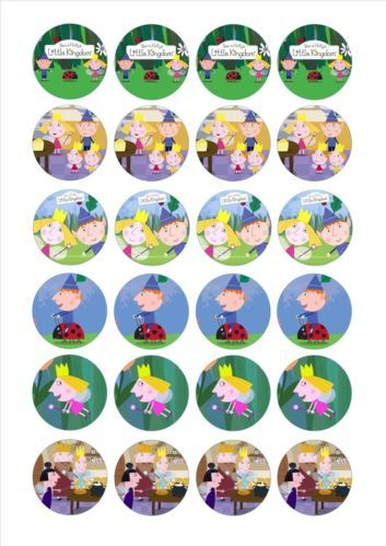 24 icing cake toppers Ben and holly d3