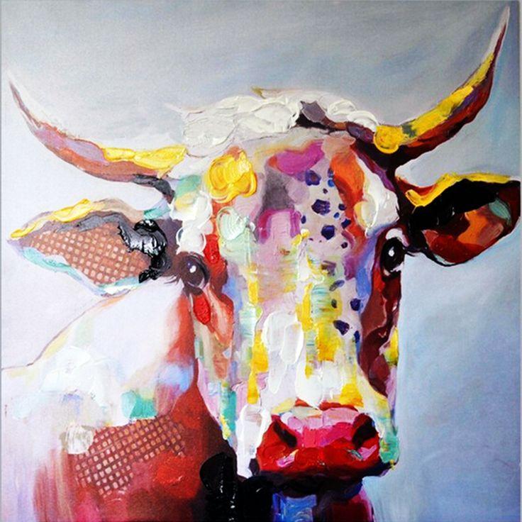 M s de 25 ideas incre bles sobre cow painting colorful en - Cuadros de vacas ...