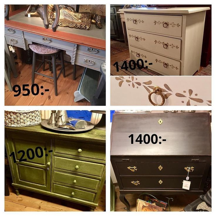 Hos oss kan ni fynda ommålade möbler! P.g.a platsbrist säljer vi ut vissa möbler. Skattkammaren i Åkersberga  #rea #ommålat #möbler #byrå #skrivbord #sekretär #shabbychic #vintage #antik #milkpaint #handmålad #kritfärg#kalkfärg