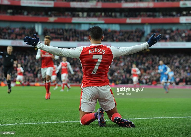 Alexis Sanchez of Arsenal during the Premier League match between Arsenal and AFC Bournemouth at Emirates Stadium on November 27, 2016 in London, England.