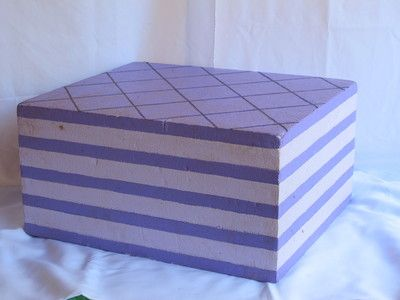 Purple Wafer Biscuit. 0.5m high. Candy Parties. R65 per 4 days to hire.