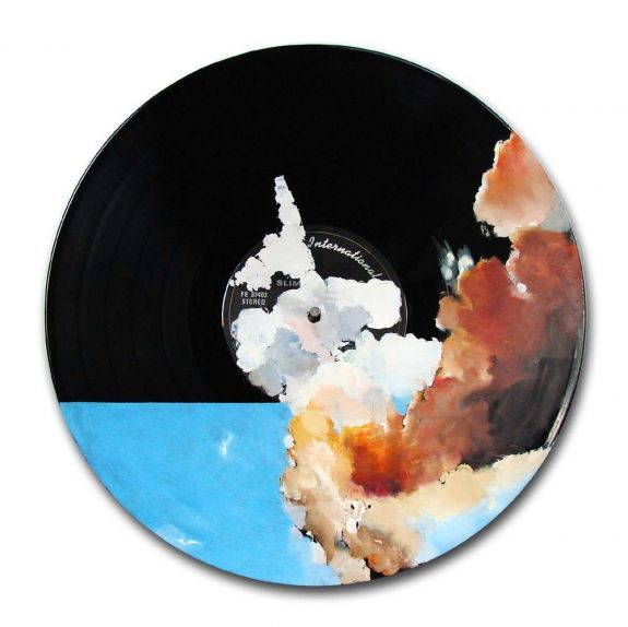 David Janzen, Oil on Vinyl - Platter 004