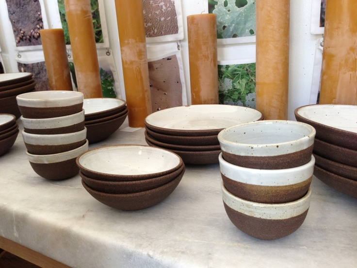 Irving Place Studio's chocolate and white bowl series, exclusive to Lost & Found