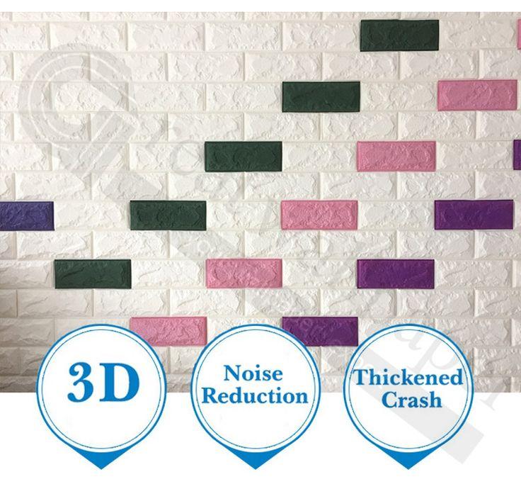 AliExpress.com Home Improvement Duvar su geçirmez anti-çarpışma 3D duvar çıkartmaları duvar otomatik tuğla desen yapışkanlı kağıt odası duvar dekorasyonu oda   Alibaba Group