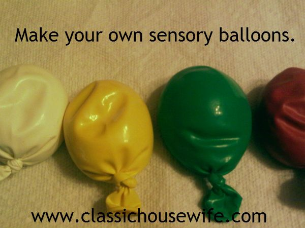 sensory balloon ( stress ball) -can draw on them and/or use 2 balloons for strength