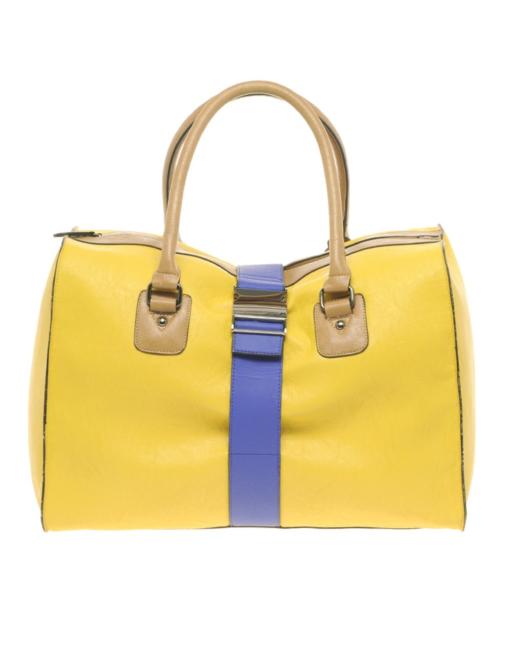 Adorable tote for beach or brunch :): Blocks Bags, Mothers Day Gifts, Summer Bags, Yellow Bags, Asos Colour, Fasten Bags, Asos Colors, Colors Blocks, Colorblock Bags