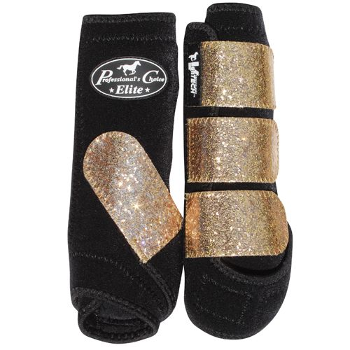Champagne Glitter Professional's Choice splint boots