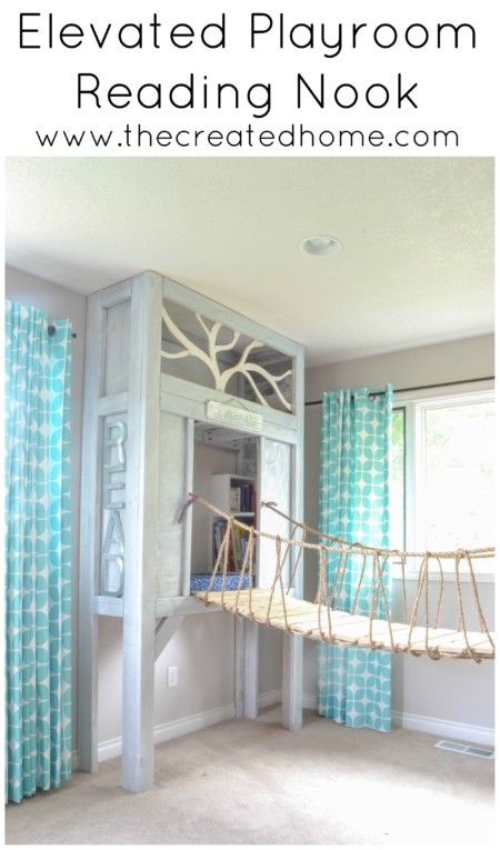 How to build an elevated reading nook for your kids to go along with the cabin p…