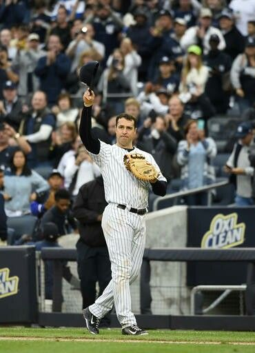 Mark Teixeira waving to the fans on his last game. October 2, 2016.