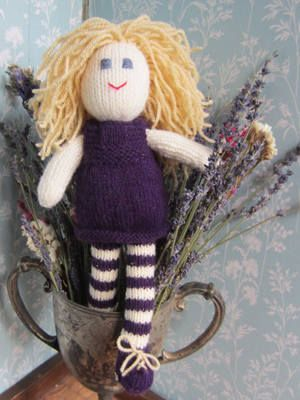 Funky Flo Hand Knitted Rag Doll   Buy Now