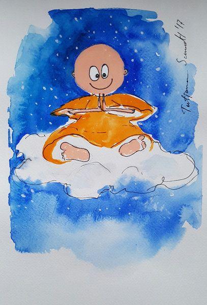 Illustrationen - Originale - Namaste - ein Designerstück von Kunst-Punkt bei DaWanda