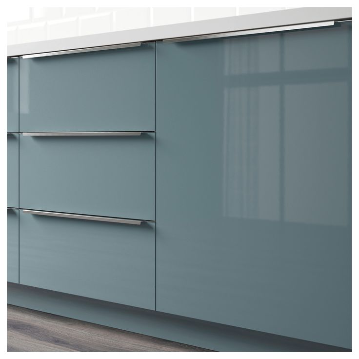 High Gloss Gray Kitchen Cabinets: IKEA - KALLARP Drawer Front High Gloss Gray-turquoise In 2019
