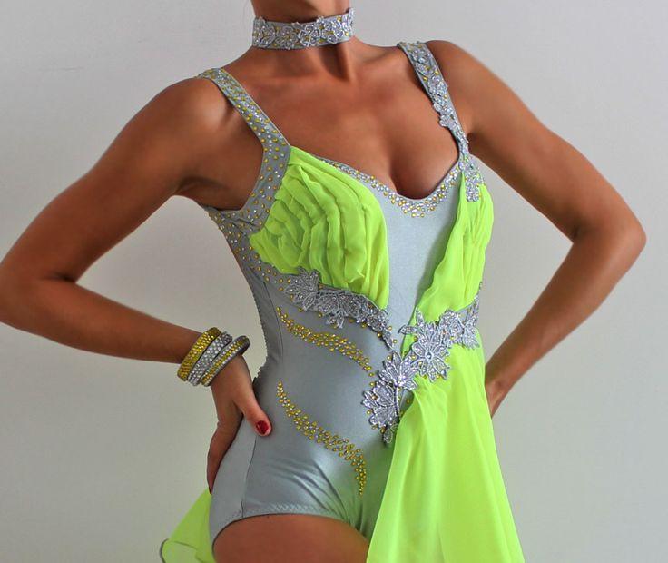 abito danze latino americane e caraibiche. latin ballroom dress. salsa dress www.crinolinatelier.it