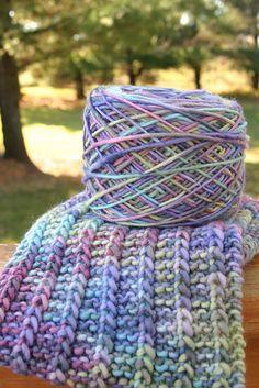 adorei fazer este cachecol .. as cores são tão gostosas e o malabrigo é tão macio