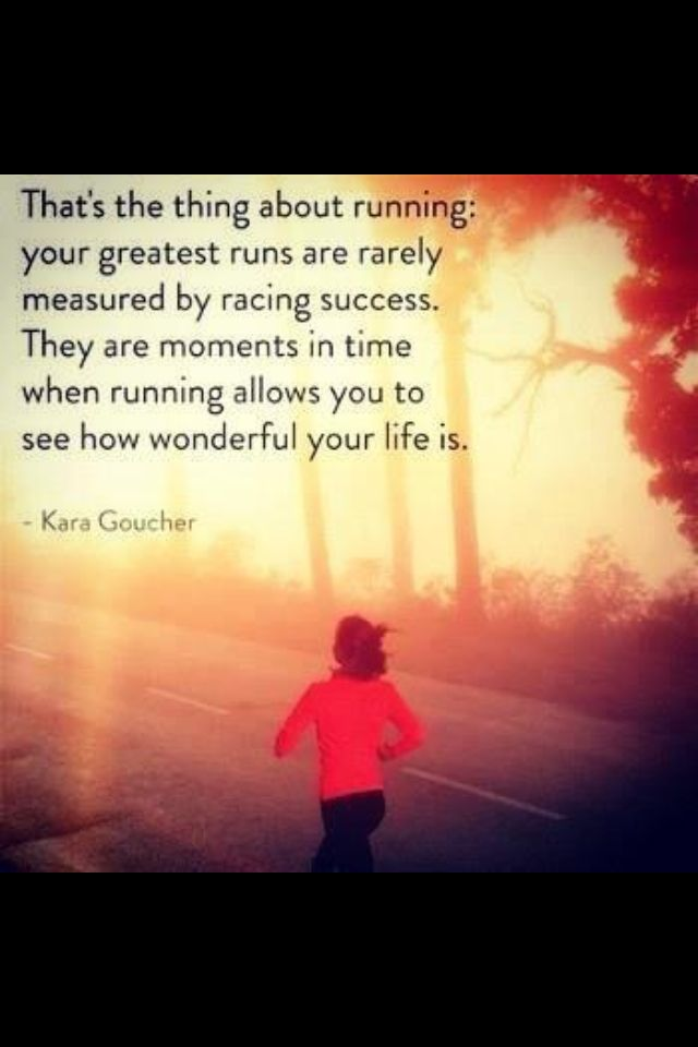 Running can also be spiritual. When you include the spiritual aspect into running, your running quality becomes so much more better and usually helps you gain a greater appreciation towards the little things in life that we take granted for.