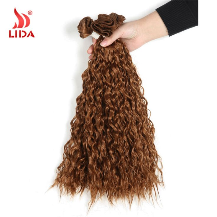 "New Arriving Cheap Hair Extension For Black Women 18"" Nature Color Curly Synthetic Hair Weaving Jerry Curl Hair weft Free Ship"