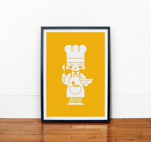 A Creative Cook print £35Heads, Creative Cooking, Kitchens Art, Kids Room, Cute Kids, Prints, Posters, Pictures Frames, Jamie Nash