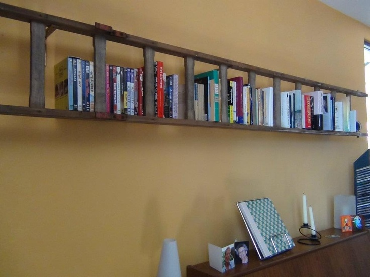 Ladder wordt boekenrek (by A'lies)