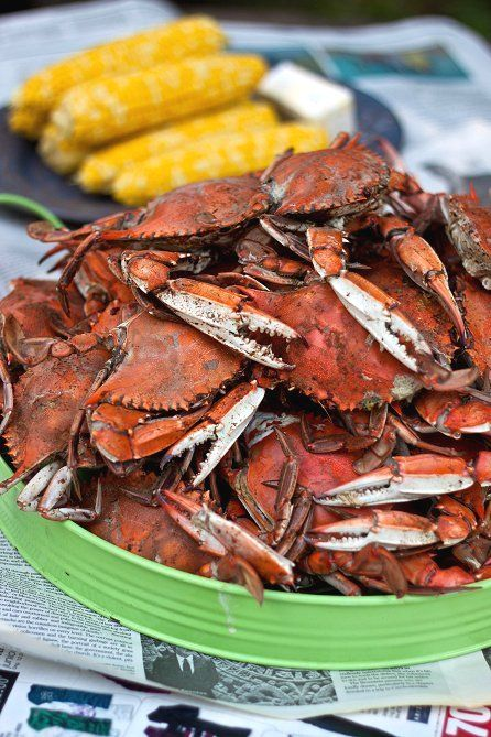 Steamed #Maryland #Crabs !!!! ~