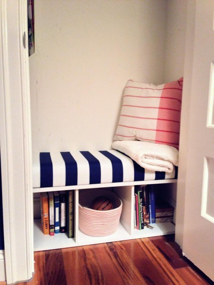 My newest DIY! Closet turned reading nook :)