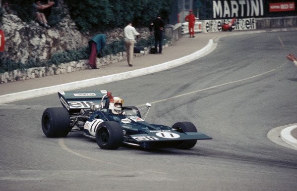 Jackie Stewart Tyrrell 003 Ford Raises His Arm In Triumph After