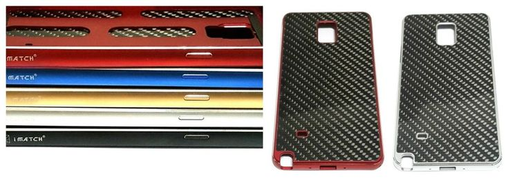 Luxury Aluminum Metal Carbon Fiber Back Case For Samsung Galaxy Note 4  #Surpluswind