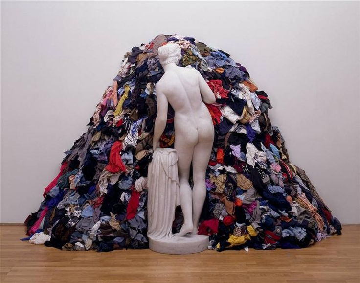 Venus of the Rags, 1967 by Michelangelo Pistoletto. Conceptual Art. installation