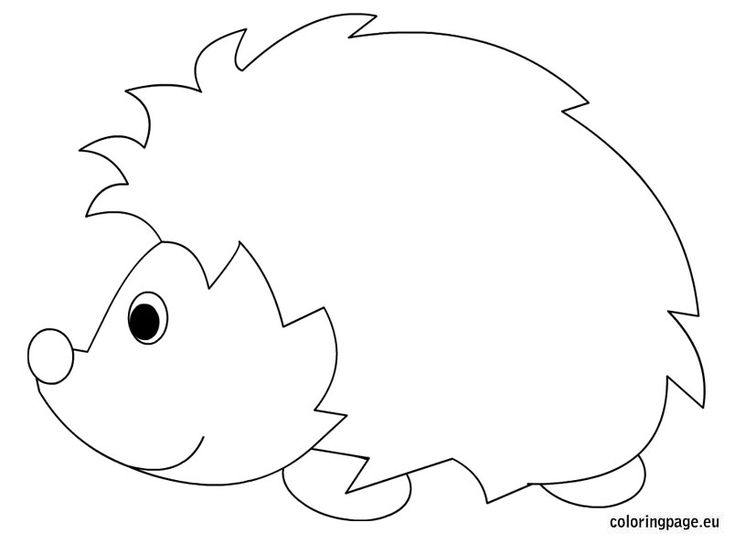 Malvorlagen Herbst Igel: Hedgehog Coloring Sheet