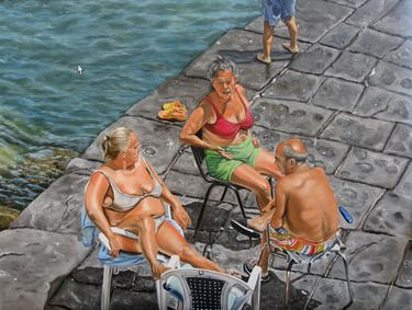 "Saatchi Art Artist Rosa Borreale; Painting, ""A summer day in Naples"" #art"