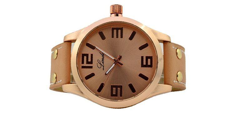 Γυναικείο ρολόι Linda μπεζ 06