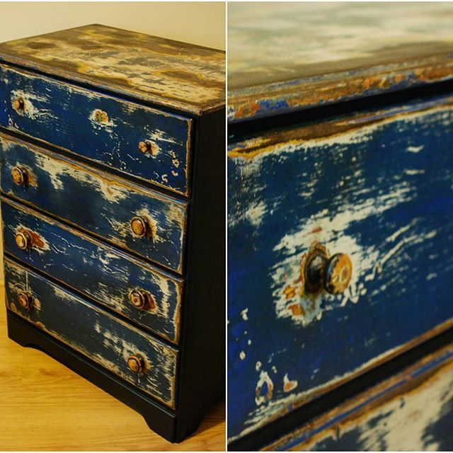 Somewhat Nautical Dresser with exposed layers -Sold.  #dresser #furniture