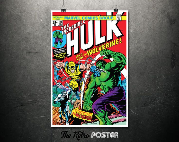 The Incredible Hulk - The Hulk, Marvel Poster, Marvel Print, Hulk Poster, Kids Prints, Superhero Wall Art, Comic Art, Boys Bedroom Prints by TheRetroPoster on Etsy