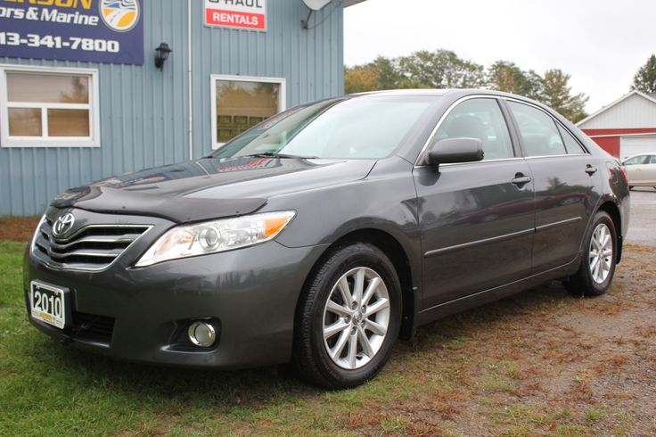 "2010 Toyota Camry XLE – Leather & Sunroof One-Owner, 2.5L 4cyl, Power Sunroof, Heated Leather Seats, Bluetooth, Dual Climate Control with Plasmacluster Ionizer HVAC, JBL Sound System, 16"" Alloy Wheels, Fog Lights and ONLY 55,576 kms 14,888 +tax or 154 bi-weekly oac – Call Wendy for Financing at 613-341-7800 or online at www.jacksonmotors.ca Roomy cabin, extraordinarily refined and fuel-efficient, quiet and cushy ride, excellent crash test scores. No wonder that the Camry remains one of the…"