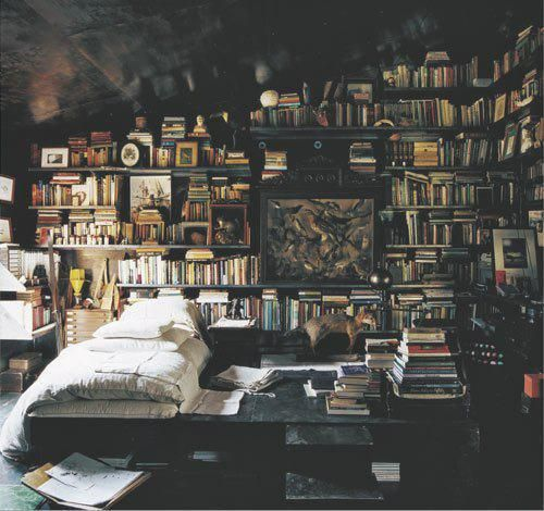 Cozy.: Dreams Bedrooms, Bookshelves, My Rooms, Coolest Bedrooms, Books Rooms, My Dreams Rooms, Libraries Bedrooms, Books Lovers, Bedrooms Books