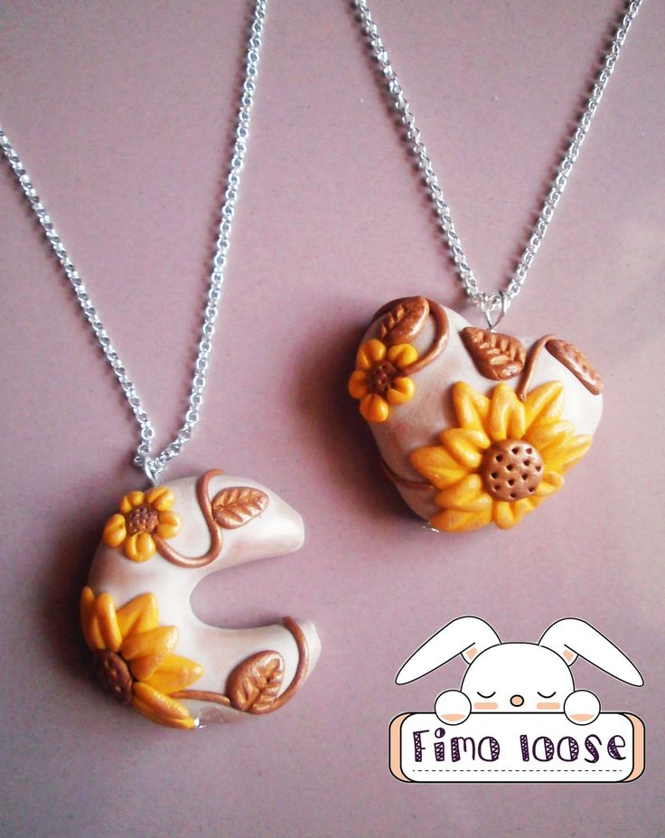 fimo polymer clay collana necklace thun style