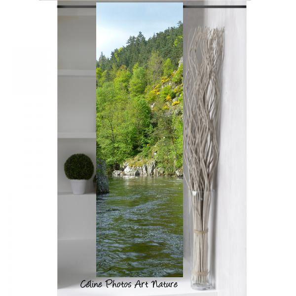 """Panneau japonais """" Douce rivière """"1m50x50cm de Céline Photos Art Nature : Textiles et tapis par celinephotosartnature"""