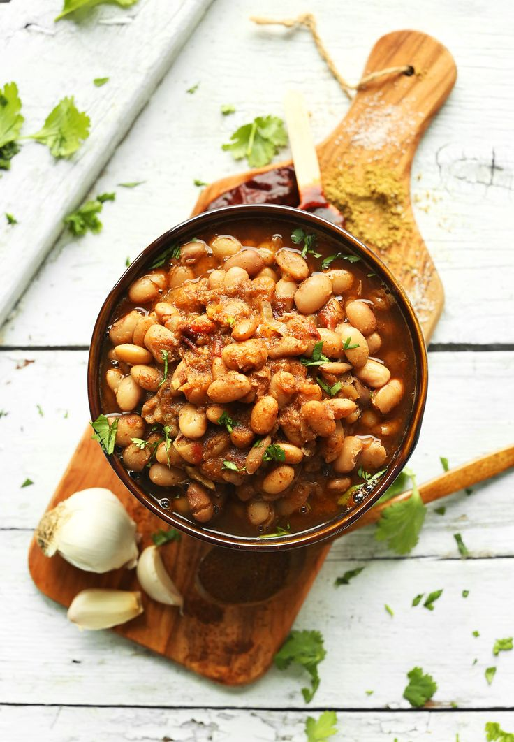 EASY Mexican Beans from scratch! Smoky, super flavorful, 1 pot required! #vegan #plantbased #glutenfree #beans #recipe #healthy #minimalistbaker