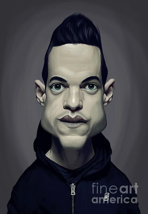 Rami Malek art | decor | wall art | inspiration | caricature | home decor | idea | humor | gifts