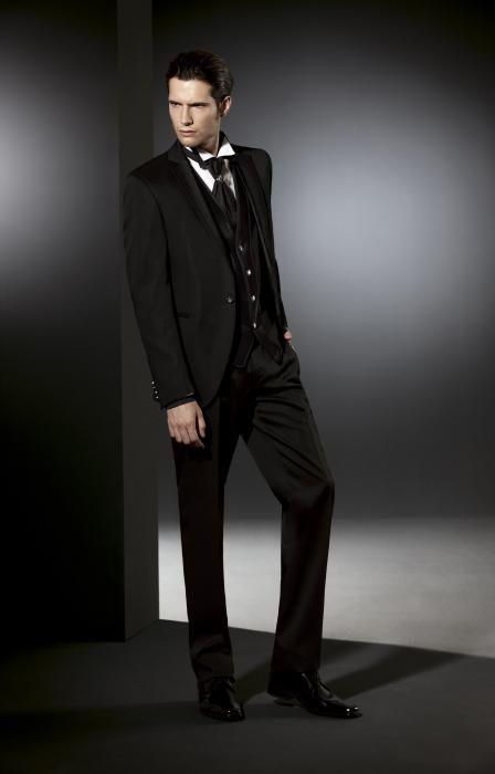 Luxusný pánsky slim svadobný oblek lesklý PO33 - Svadobný salón Valery