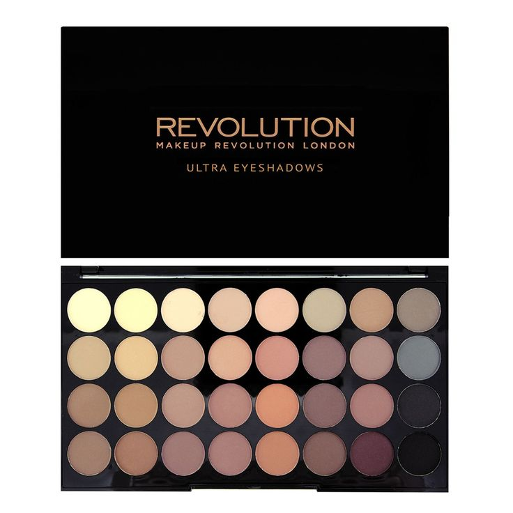 #MakeupRevolution Ultra 32 Shade Eyeshadow Palette FLAWLESS MATTE | Have been waiting for this.... a whole matte palette for £8/12$ and the quality is suppose to be great  #PinBeauty