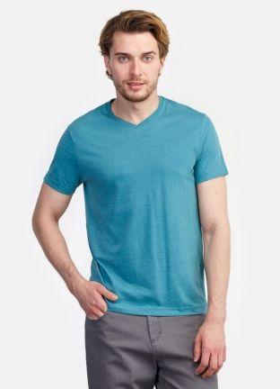 Базовая однотонная футболка за 599р.- от OSTIN
